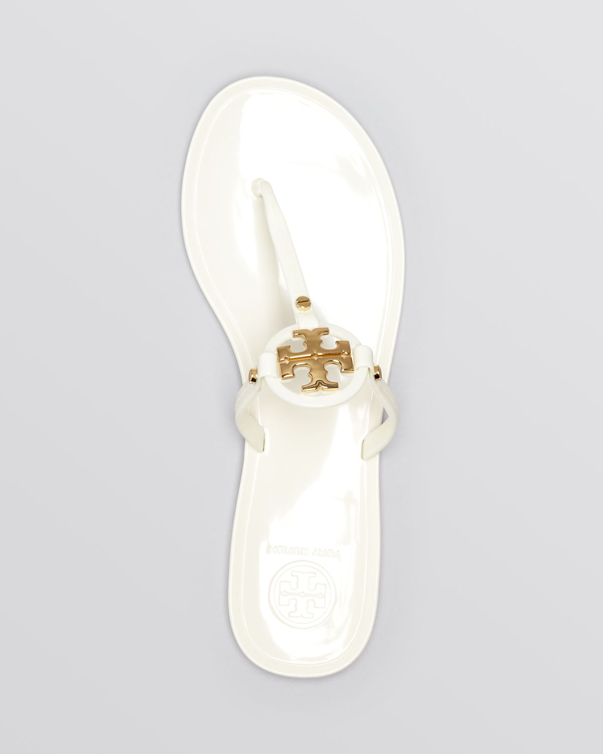 fd42cd65f Lyst - Tory Burch Flat Thong Sandals - Mini Miller Jelly in White