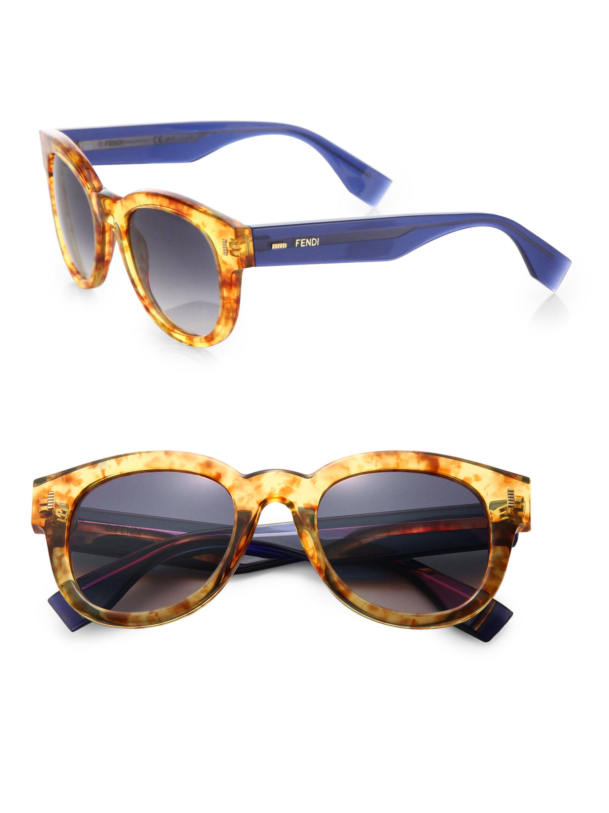 bbdcd706973c9 Fendi Colorblock Square Acetate Sunglasses - Lyst