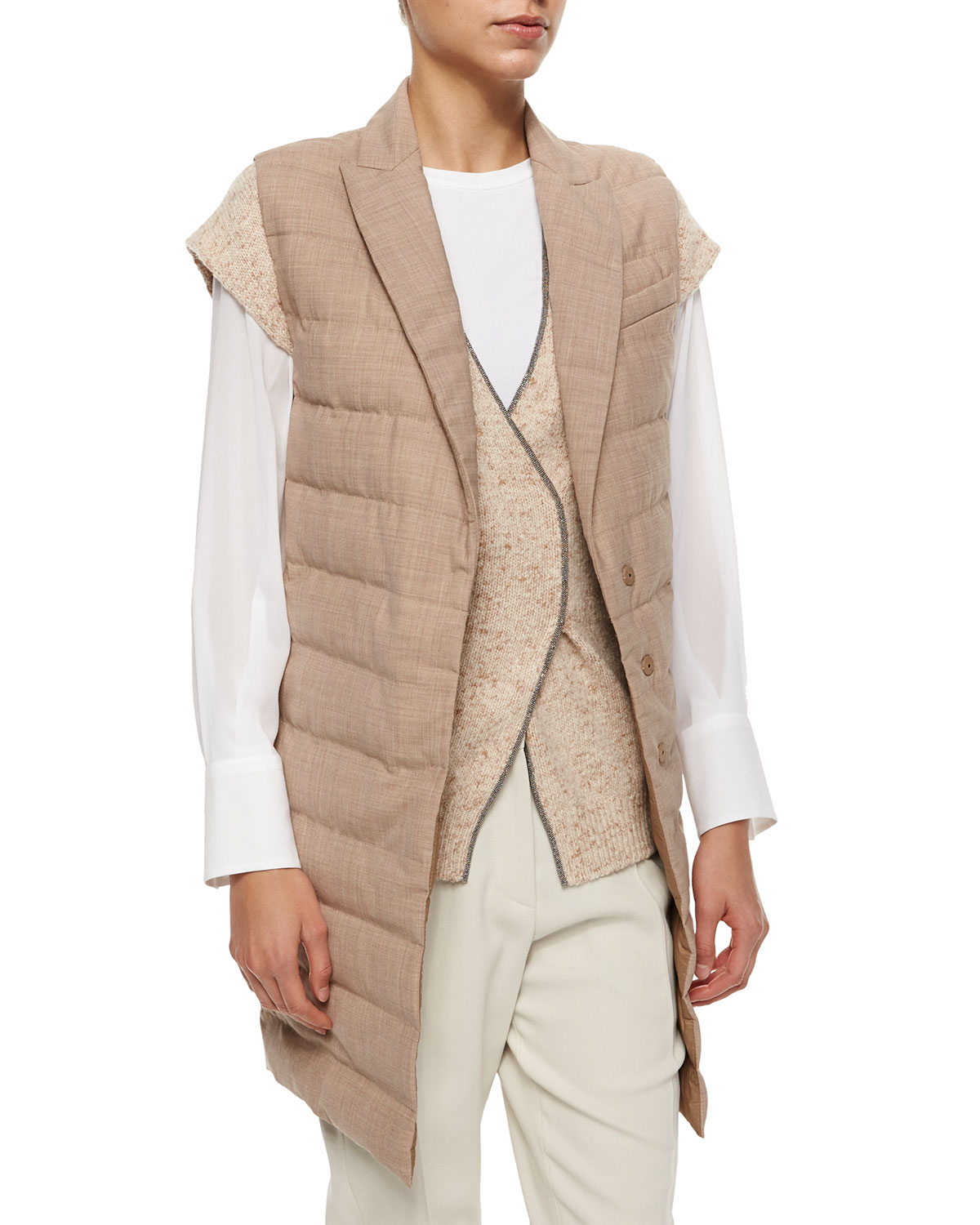 Brunello Cucinelli Lace-Trimmed Silk Vest Buy Cheap Prices Outlet Supply Buy Cheap Countdown Package Cheap Hot Sale 7egMsU5ZB1