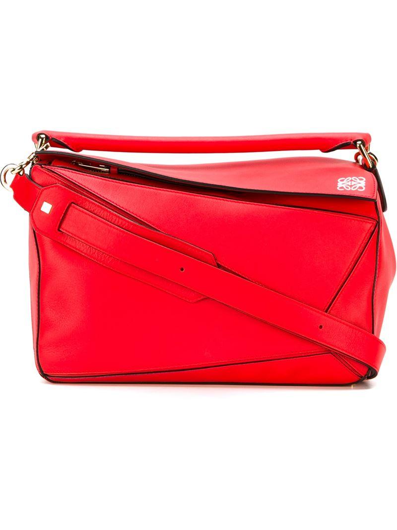 Loewe Puzzle Bag In Red Lyst