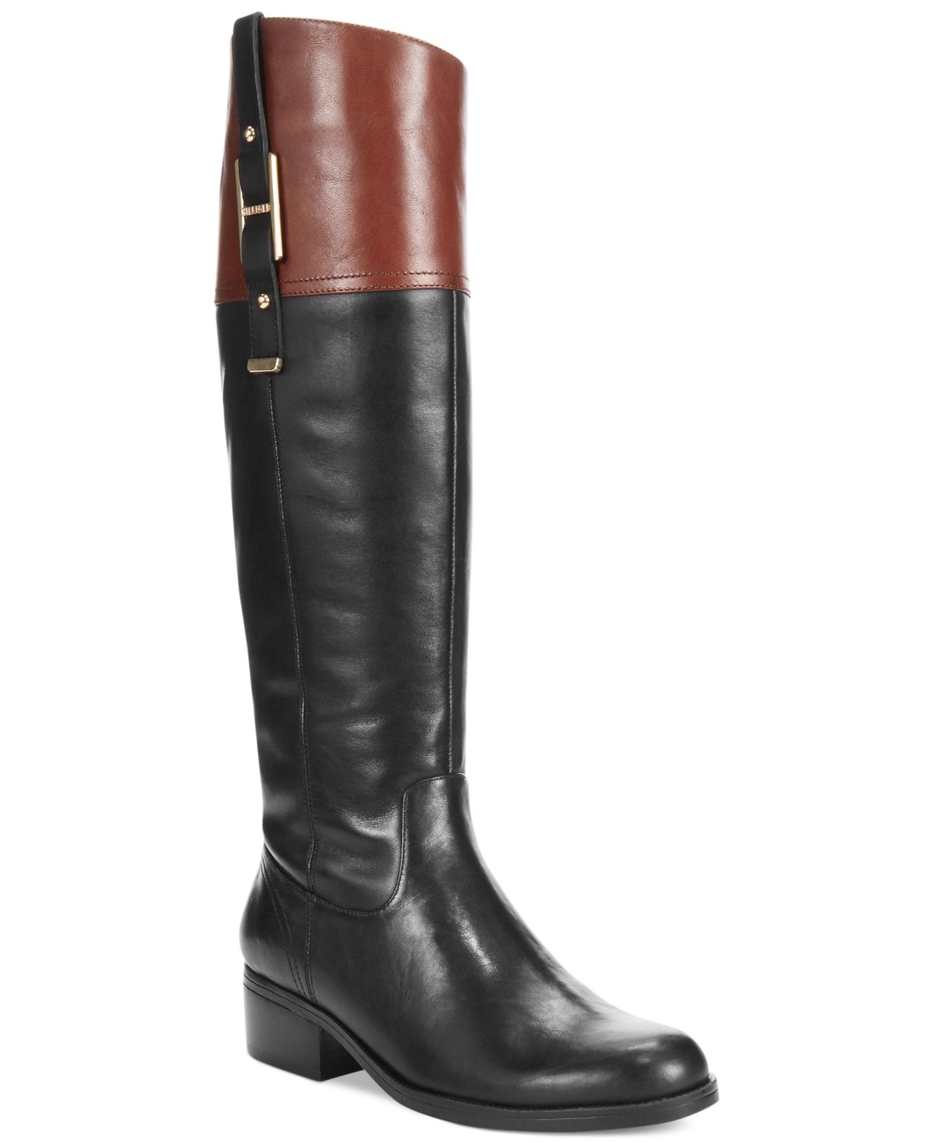 lyst tommy hilfiger women 39 s gibsy wide calf riding boots. Black Bedroom Furniture Sets. Home Design Ideas