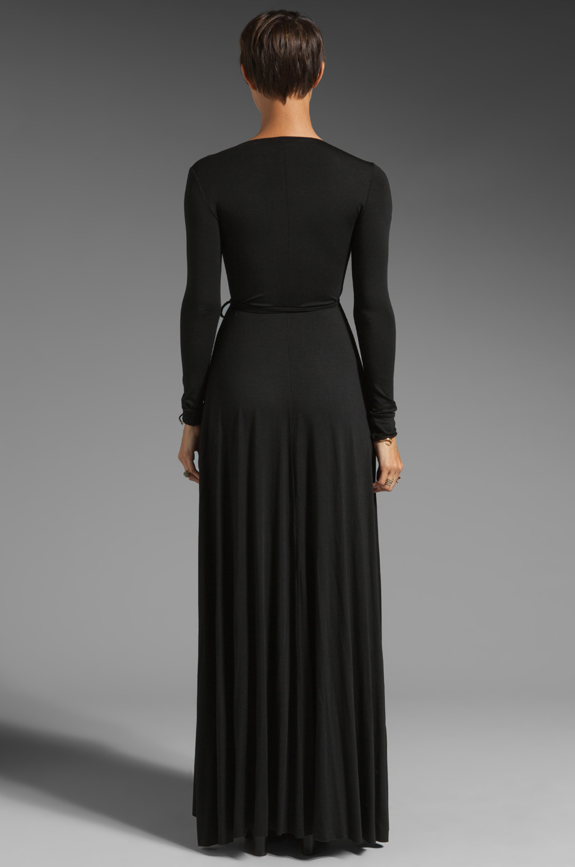 Lyst Rachel Pally Long Wrap Dress In Black