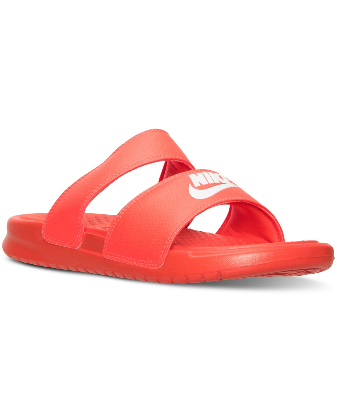 0e1699fdecbc closeout nike double strap sandals yv72q 9f6dc 5e0bd  hot lyst nike womens  benassi duo ultra slide sandals from finish line 5a59e 796b9