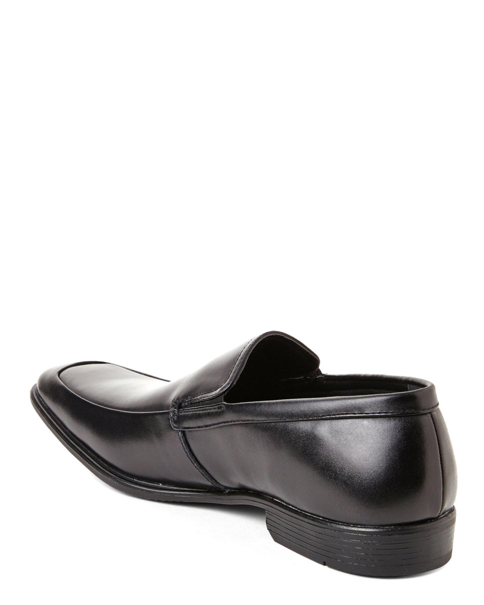 van heusen black burton loafers in black for men lyst