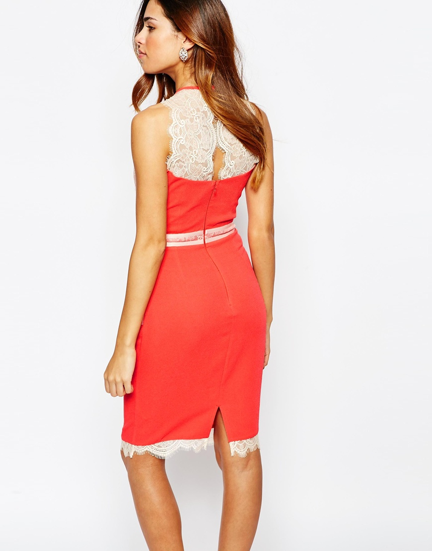 Lipsy 2 in 1 lace dress sleeveless