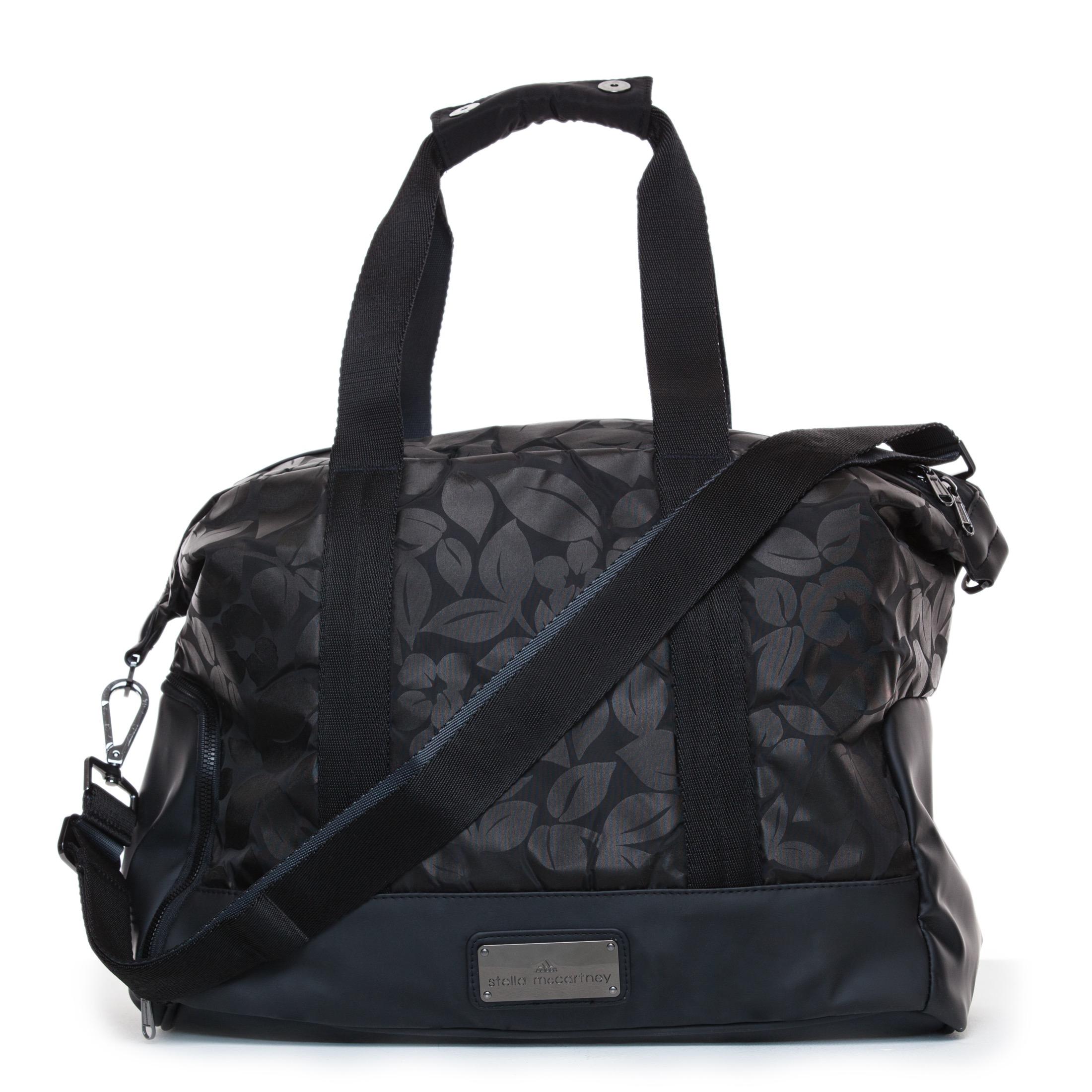 Lyst - adidas By Stella McCartney Small Gym Bag in Black 26234aa654