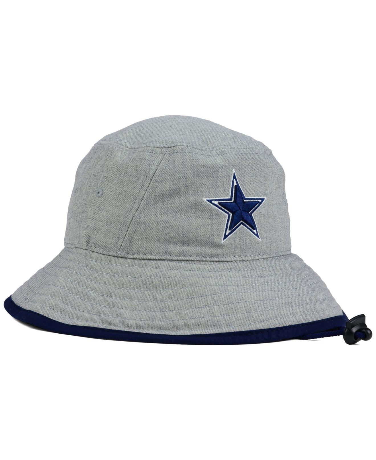613b97f3c88 Lyst - KTZ Dallas Cowboys Nfl Heather Gray Bucket Hat in Gray for Men