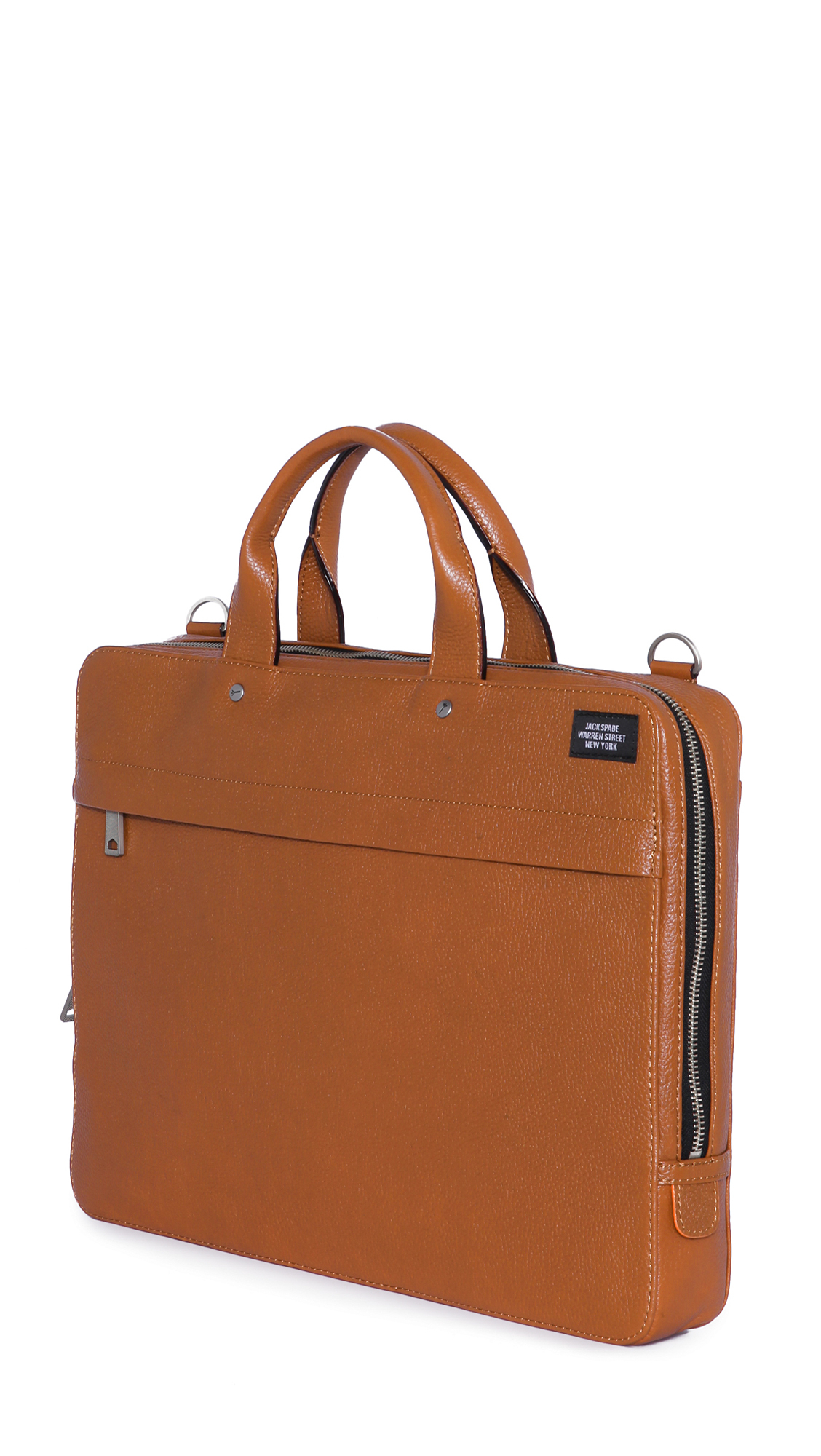 Jack spade Mason Leather Slim Briefcase in Brown for Men ...