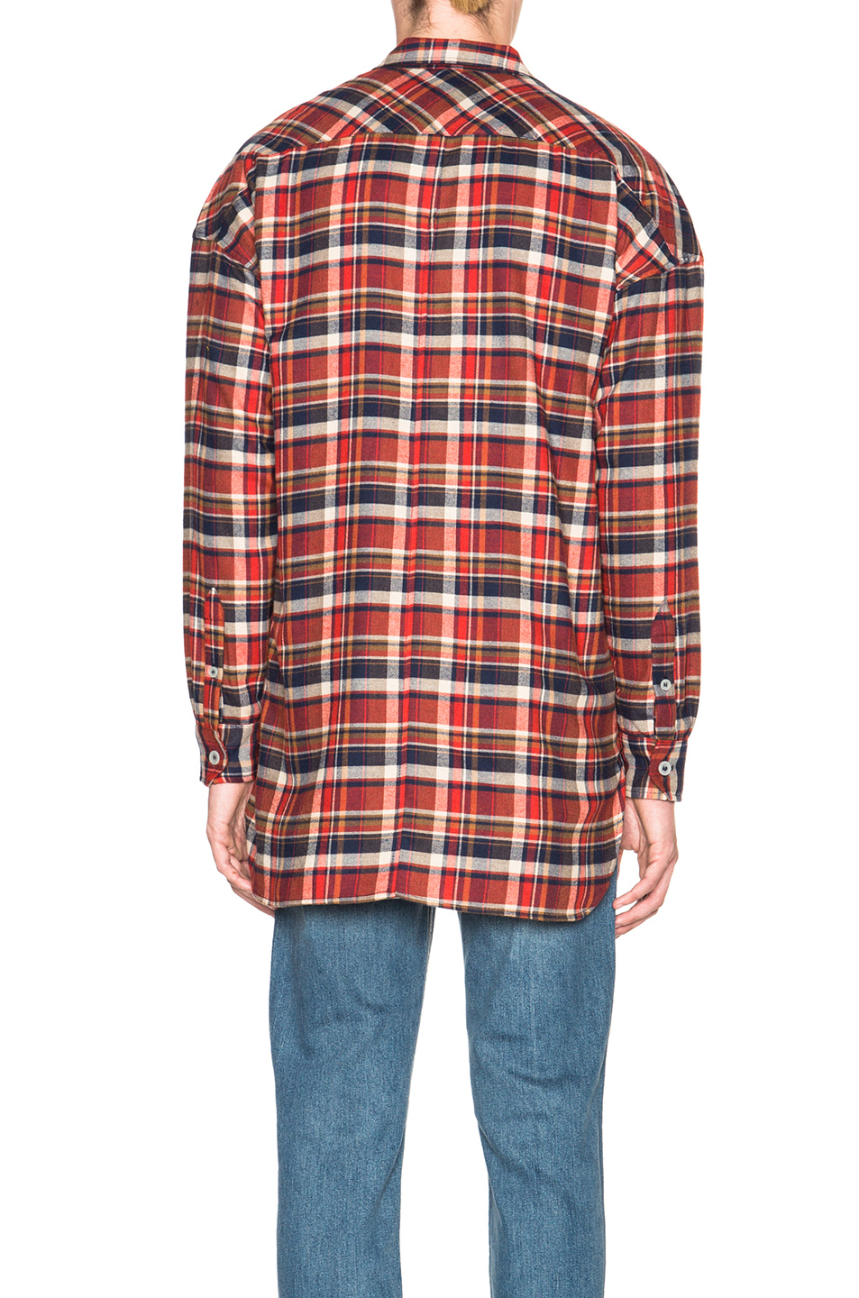 Flannel Motorcycle Jacket >> Lyst - Fear Of God Flannel Shirt in Red
