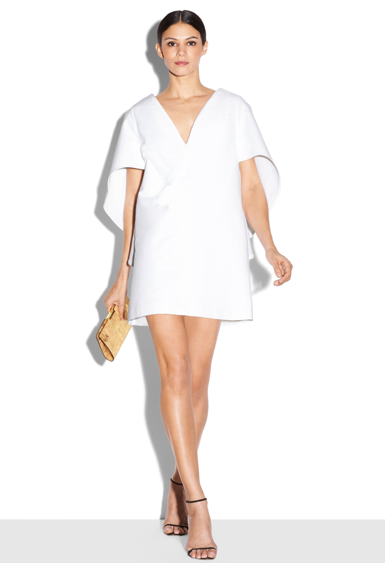 Milly Beetle Mini Dress in White | Lyst