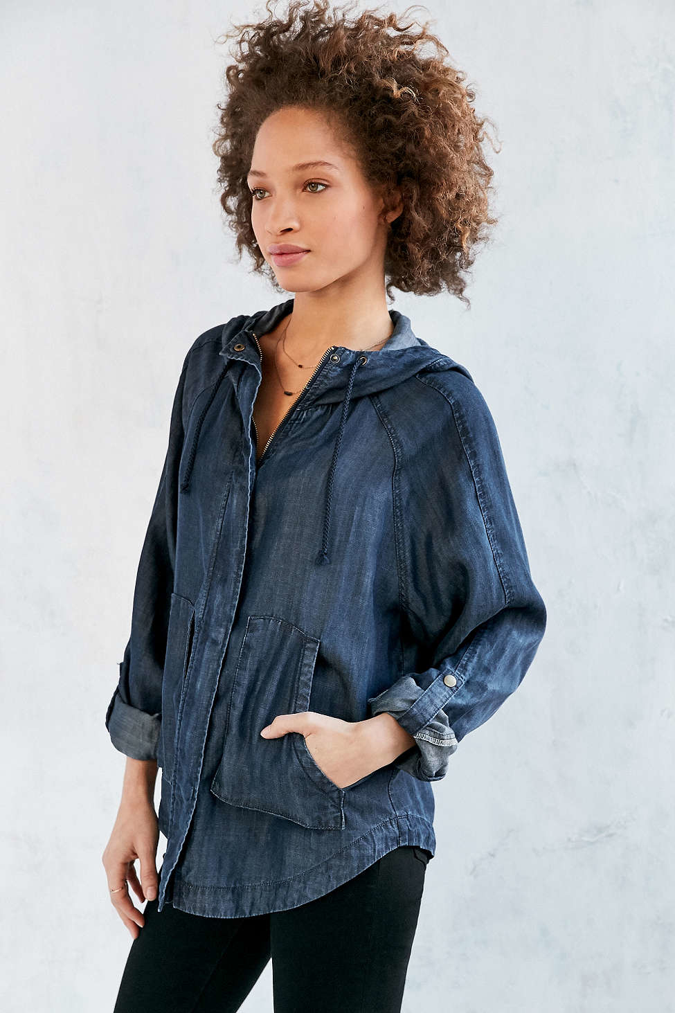 This BDG Shrunken Denim Trucker Jacket ($49, originally $69) feels very vintage-inspired, and the slightly cropped hemline gives a more feminine vibe.