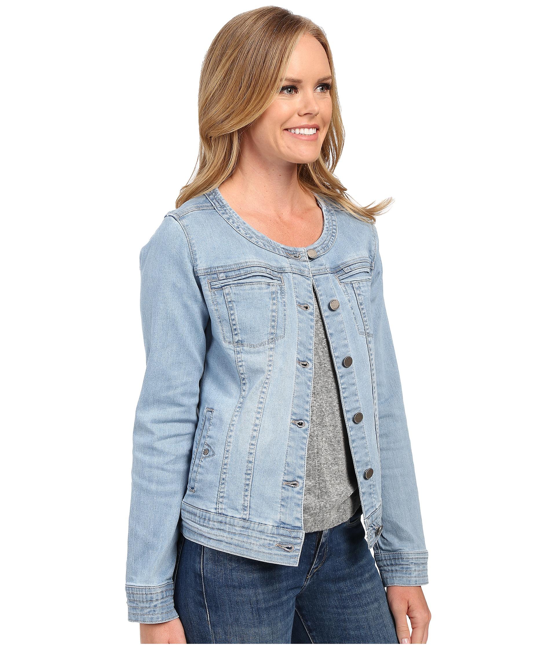 Liverpool jeans company Denim Collarless Lightweight Jean Jacket ...