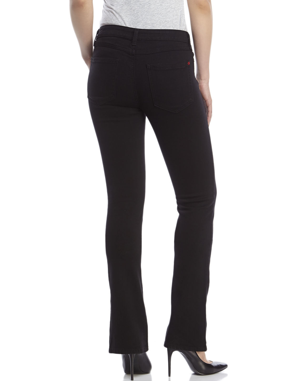 Spanx Black The Slim-X Slim Bootcut Jeans in Black | Lyst