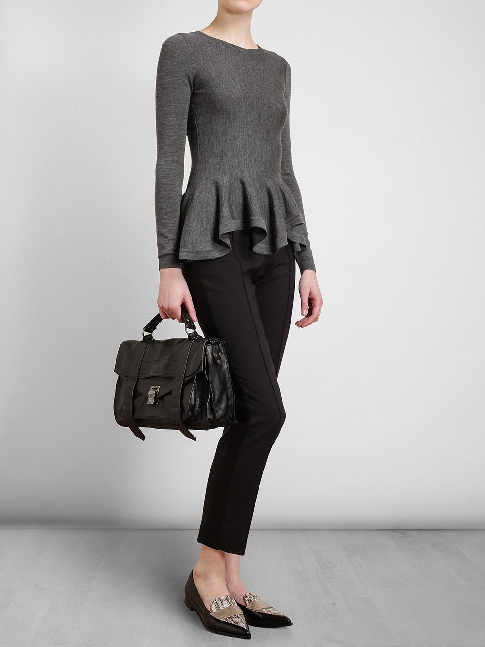 Proenza Schouler PS1+ Medium Leather Satchel Bag sehFu6nDZl