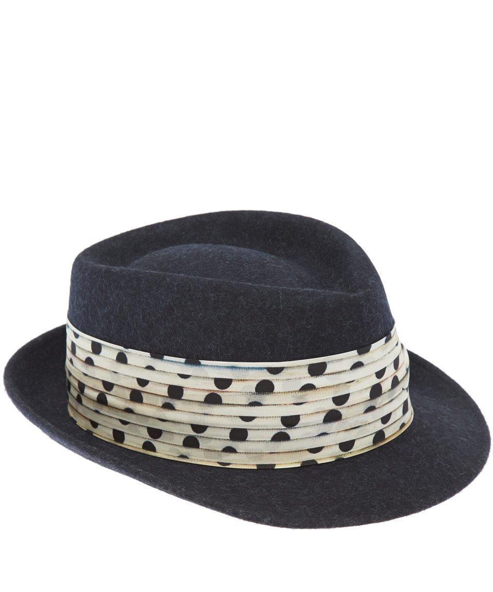 ab422e3b5414f Paul Smith Navy Polka Dot Ribbon Trilby Hat in Blue for Men - Lyst