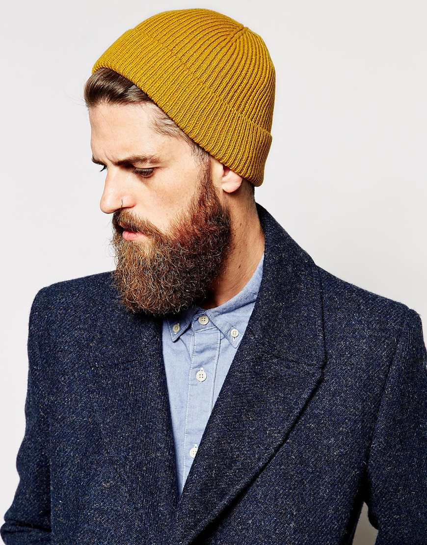 Lyst - ASOS Fisherman Beanie Hat in Yellow for Men 99f5bcf9a9b1