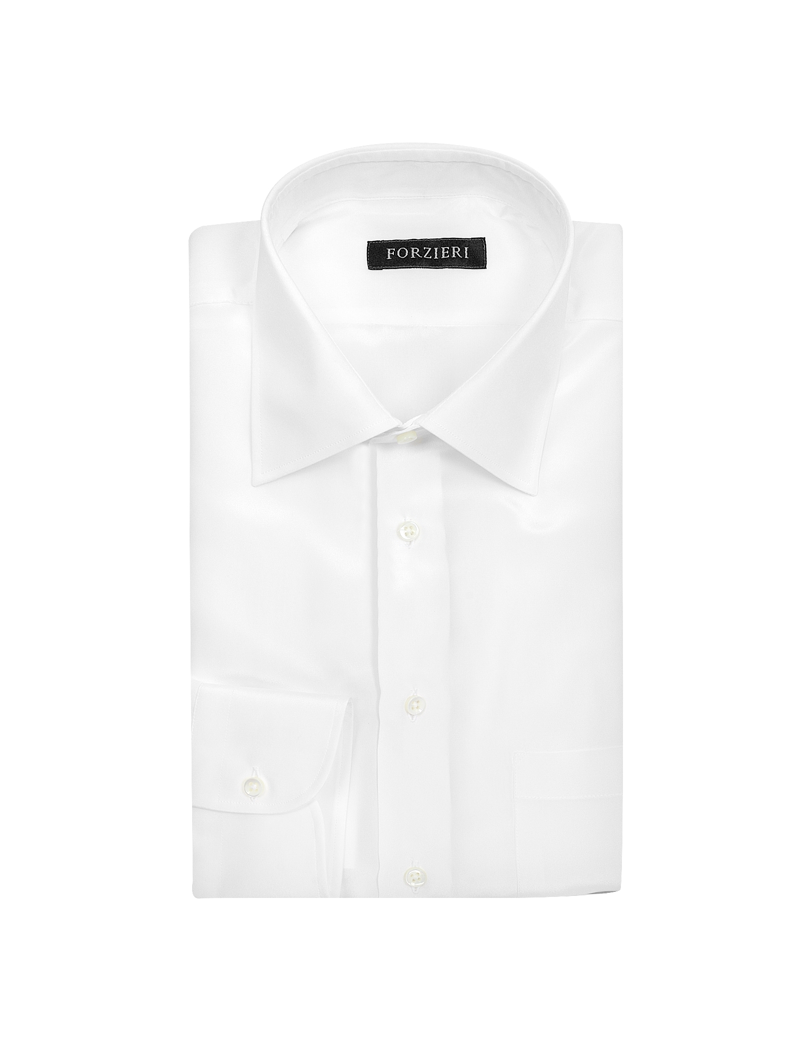 Forzieri White Pure Silk Dress Shirt In White For Men Lyst