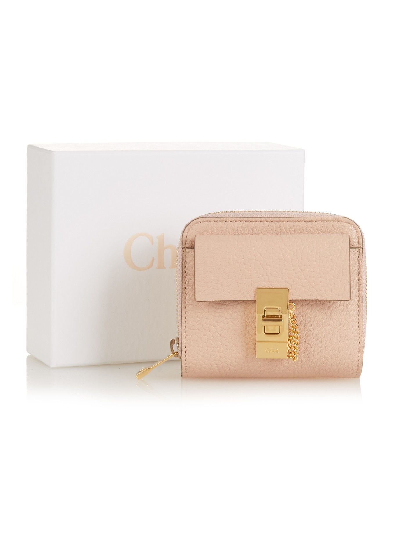 Drew grained-leather card holder Chlo YMbkxiENMv