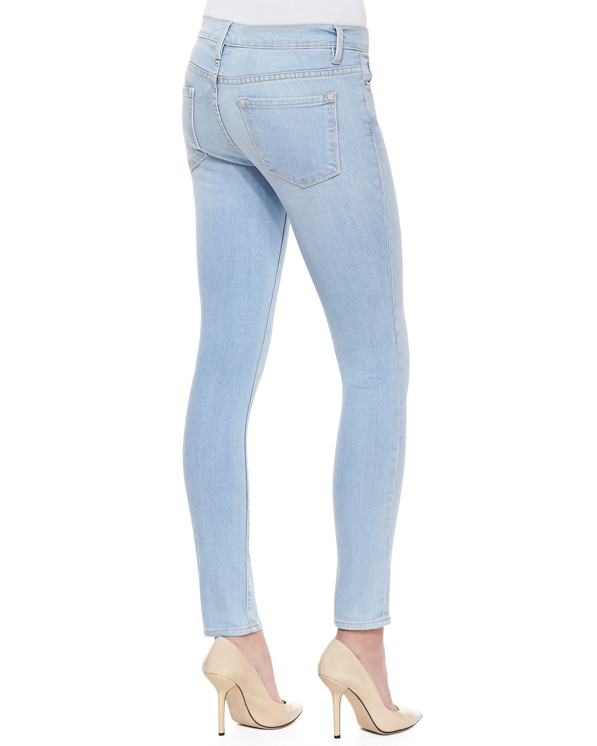 Womens Light Wash Skinny Jeans - Jeans Am