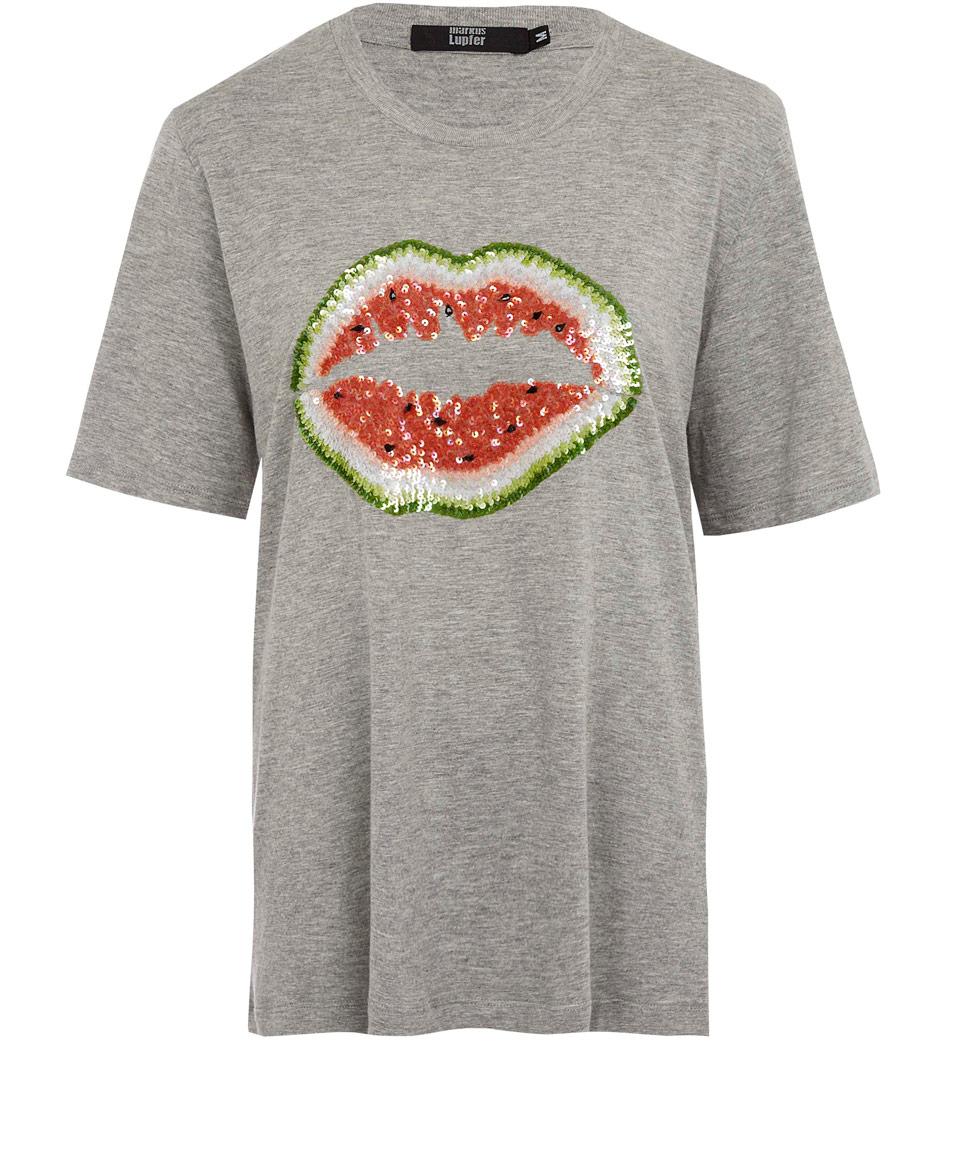Lyst Markus Lupfer Grey Watermelon Lips Boyfriend T