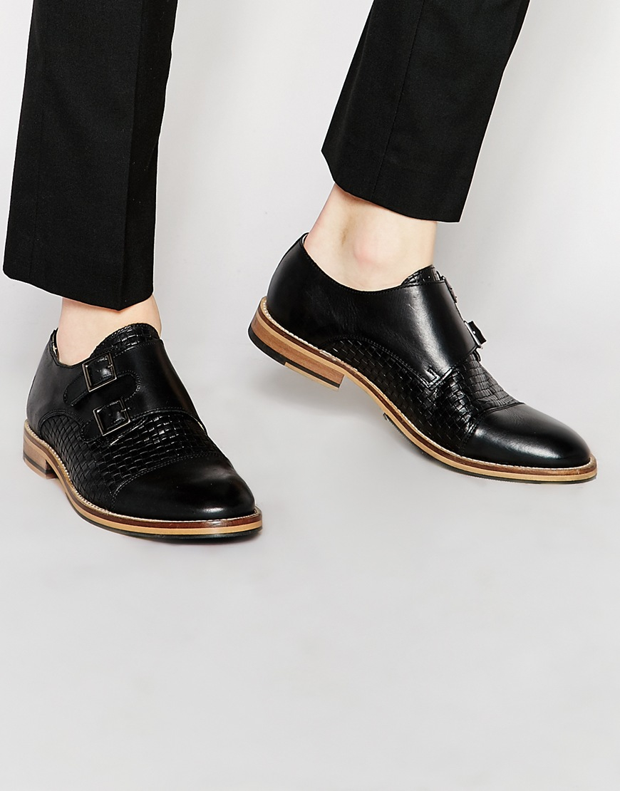 shoe the hoe the monk shoes in black for lyst