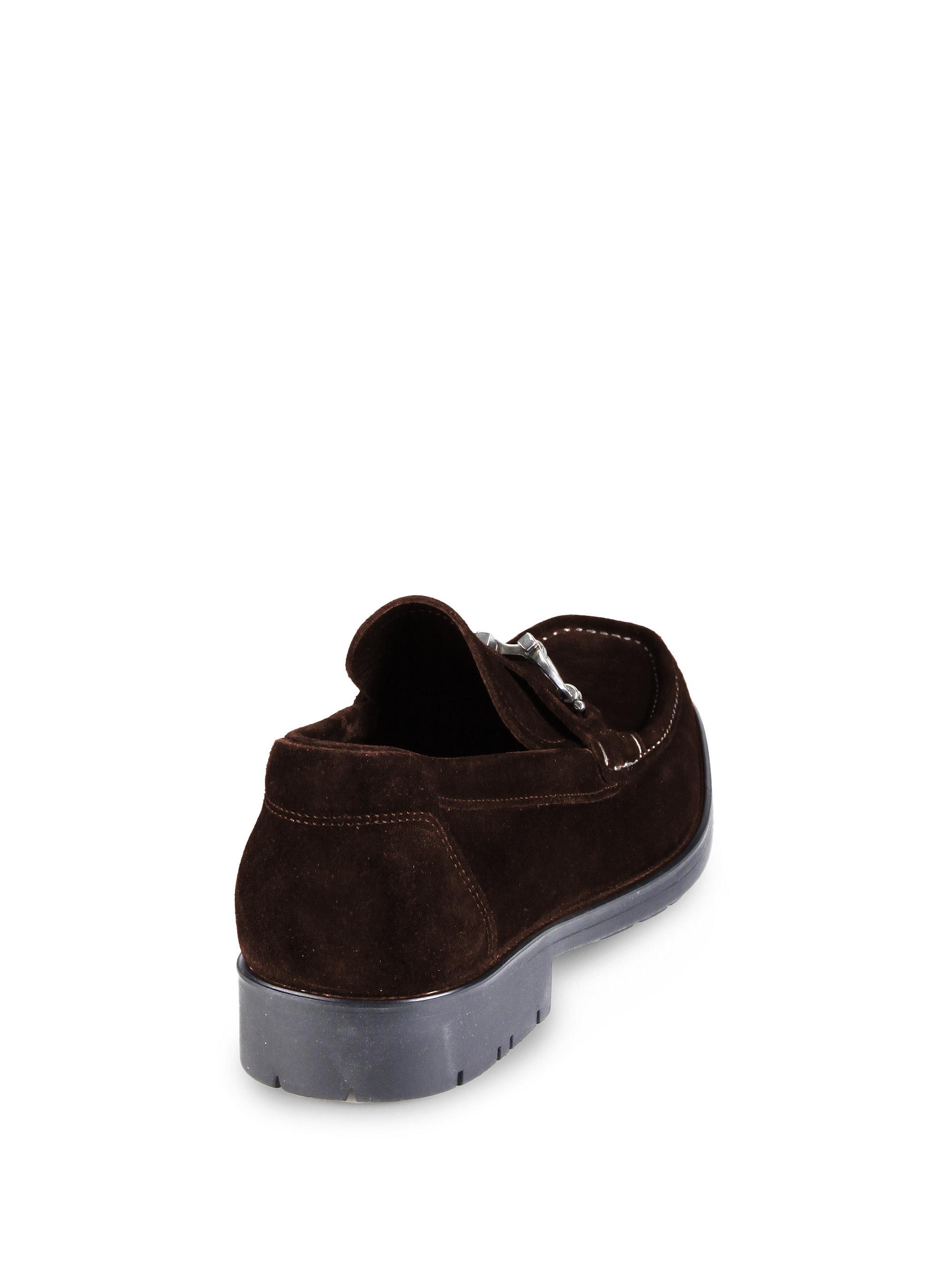 31dbaf7d867 Lyst - Ferragamo Master Suede Loafers in Black for Men