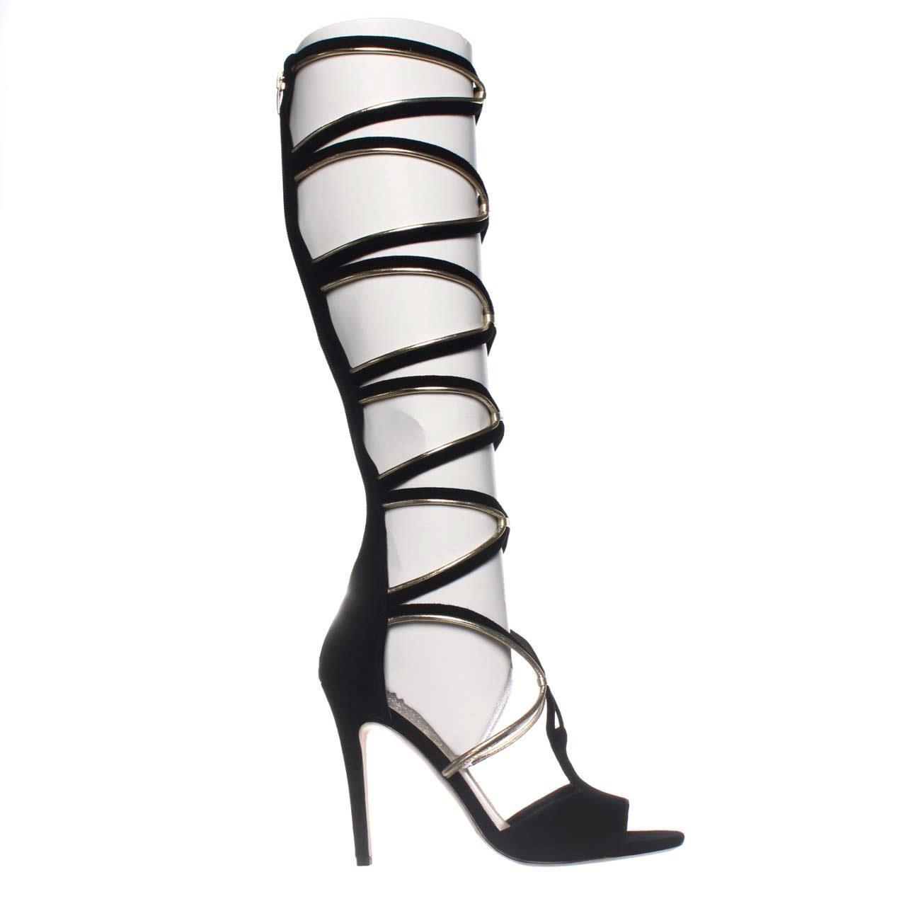 9e075a4ef16f Lyst - Via Spiga Tammarynn Knee-high Gladiator Sandals in Black