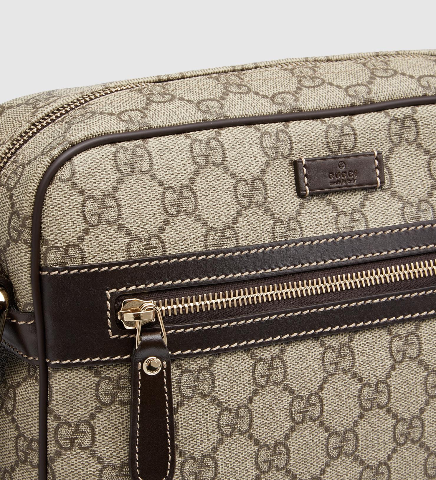 4d892abc3 Gucci Gg Supreme Shoulder Bag in Brown for Men - Lyst