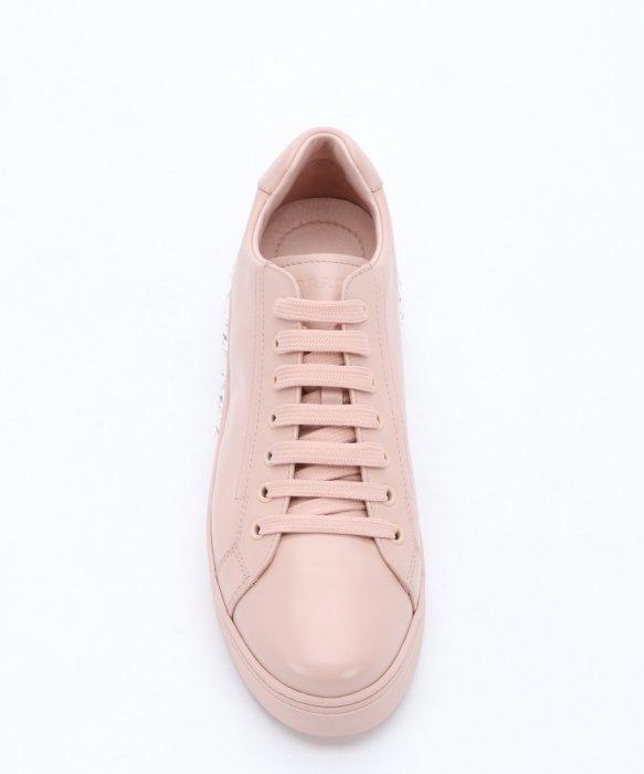 pink leather prada