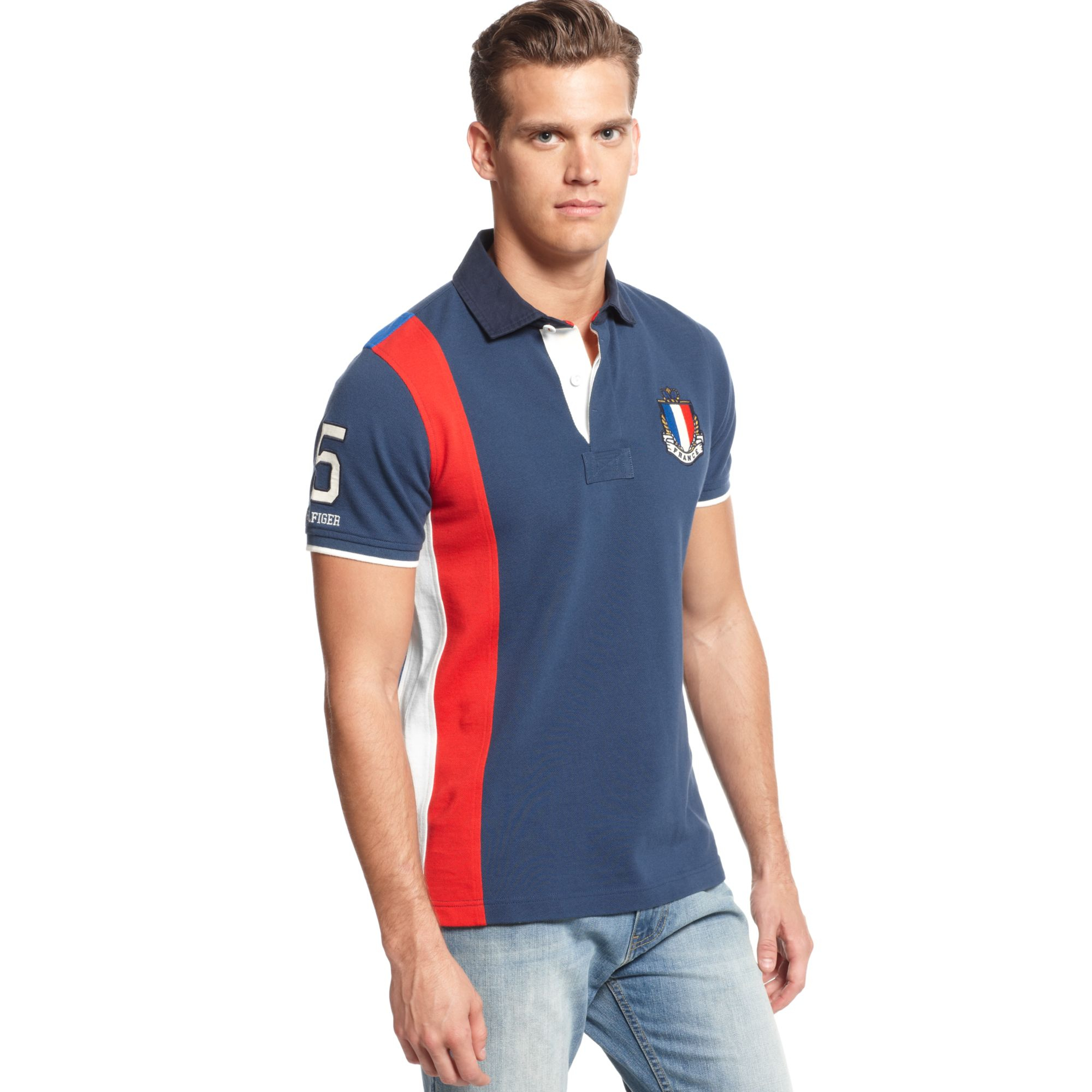 17a6267944bfe Lyst - Tommy Hilfiger France World Cup Slimfit Polo European ...