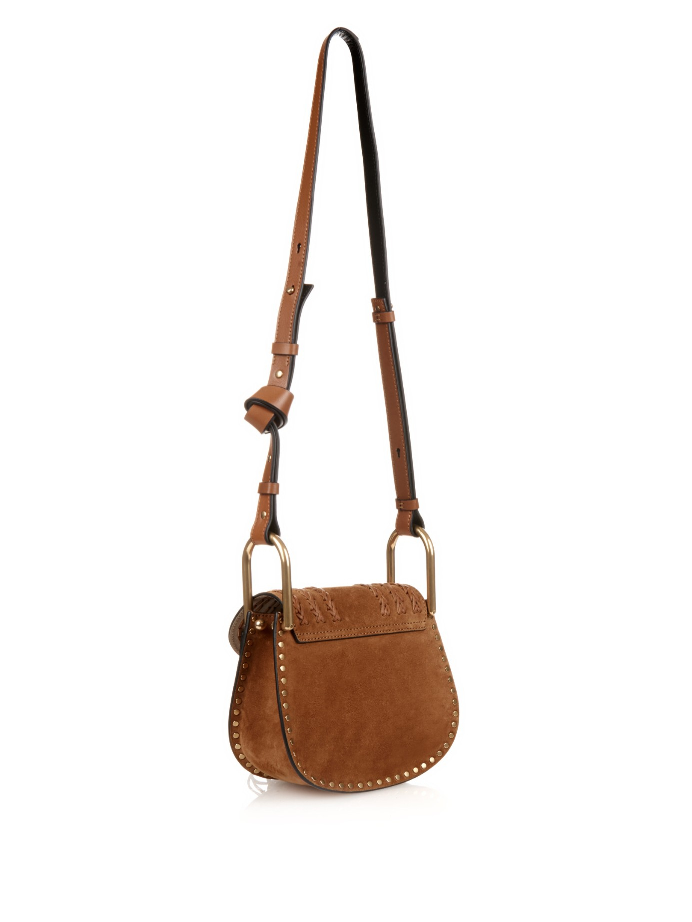 Well known Lyst - Chloé Hudson Small Suede Cross-Body Bag in Brown JA24