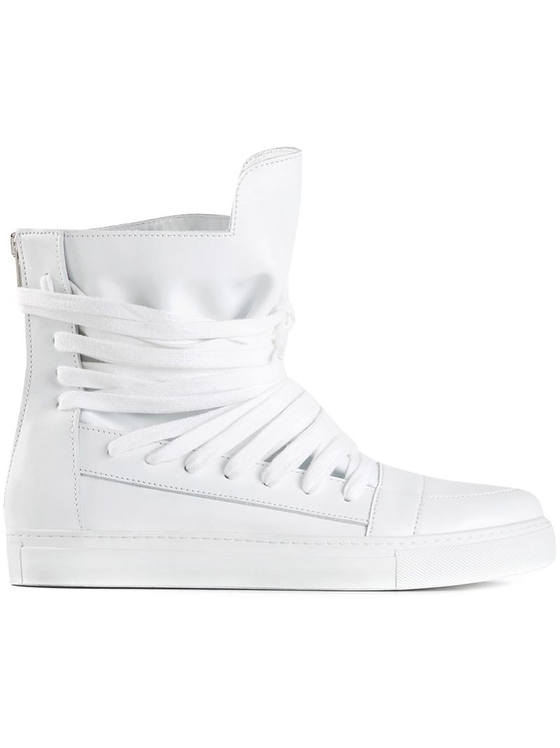 5c134c059147ea Kris Van Assche Hi-top Sneakers in White for Men - Lyst