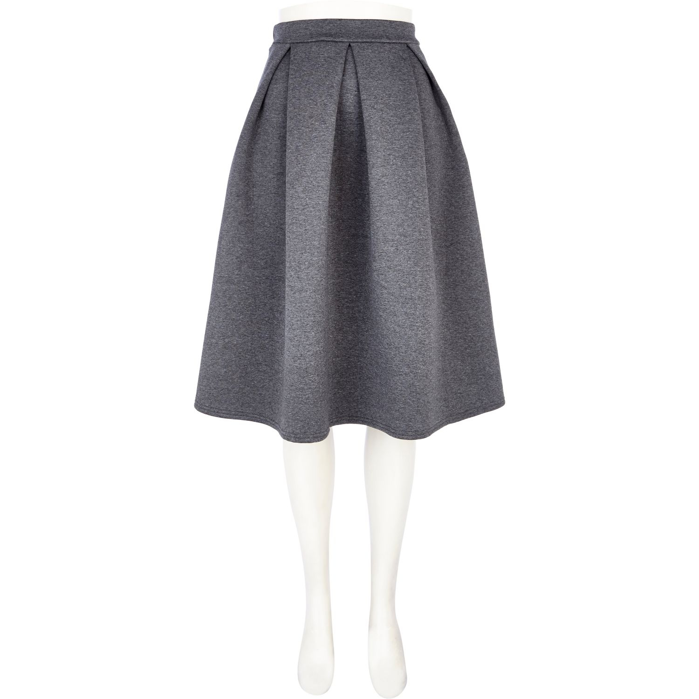 river island grey scuba pleated midi skirt in gray grey