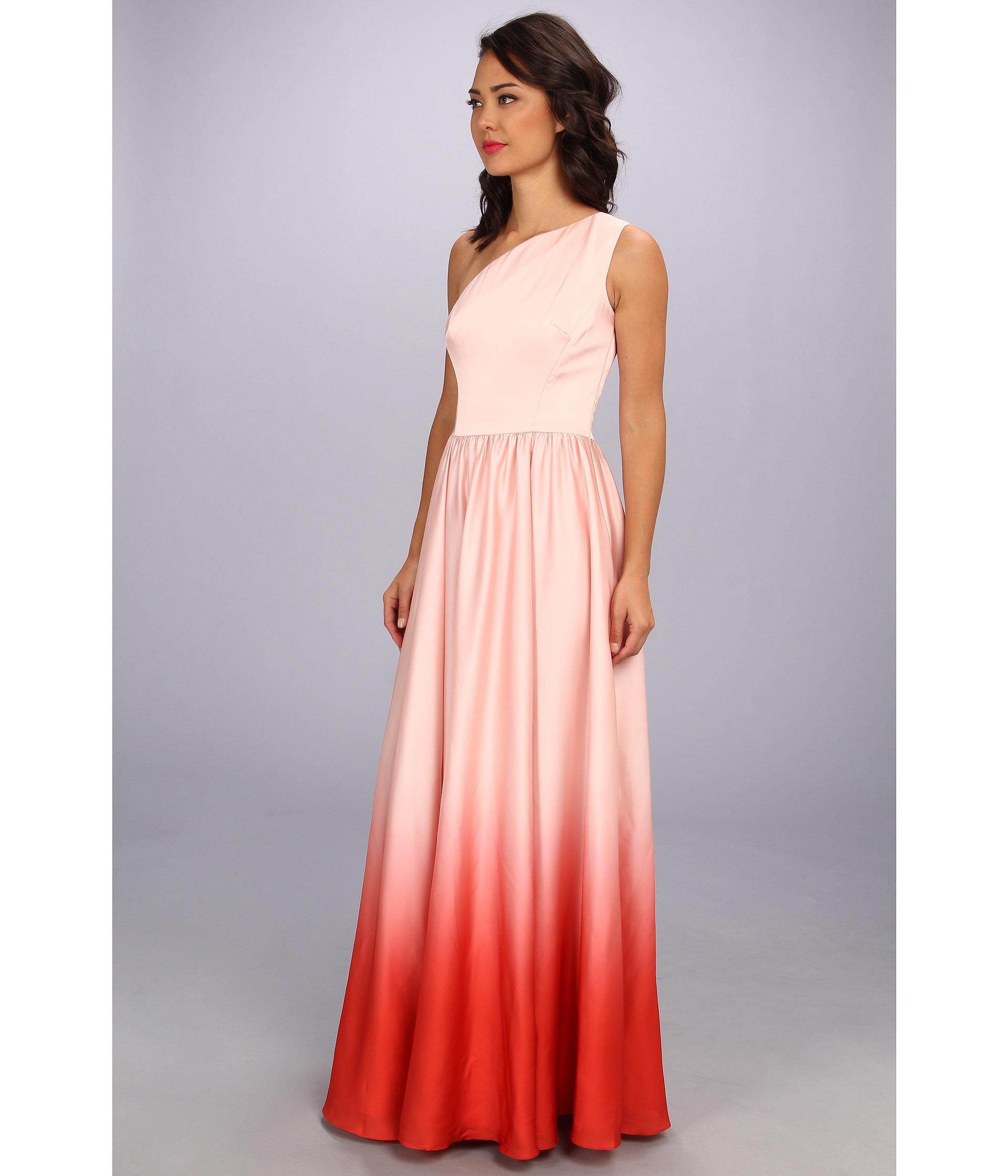 Lyst Ted Baker Daneka Single Shoulder Ombre Maxi Dress