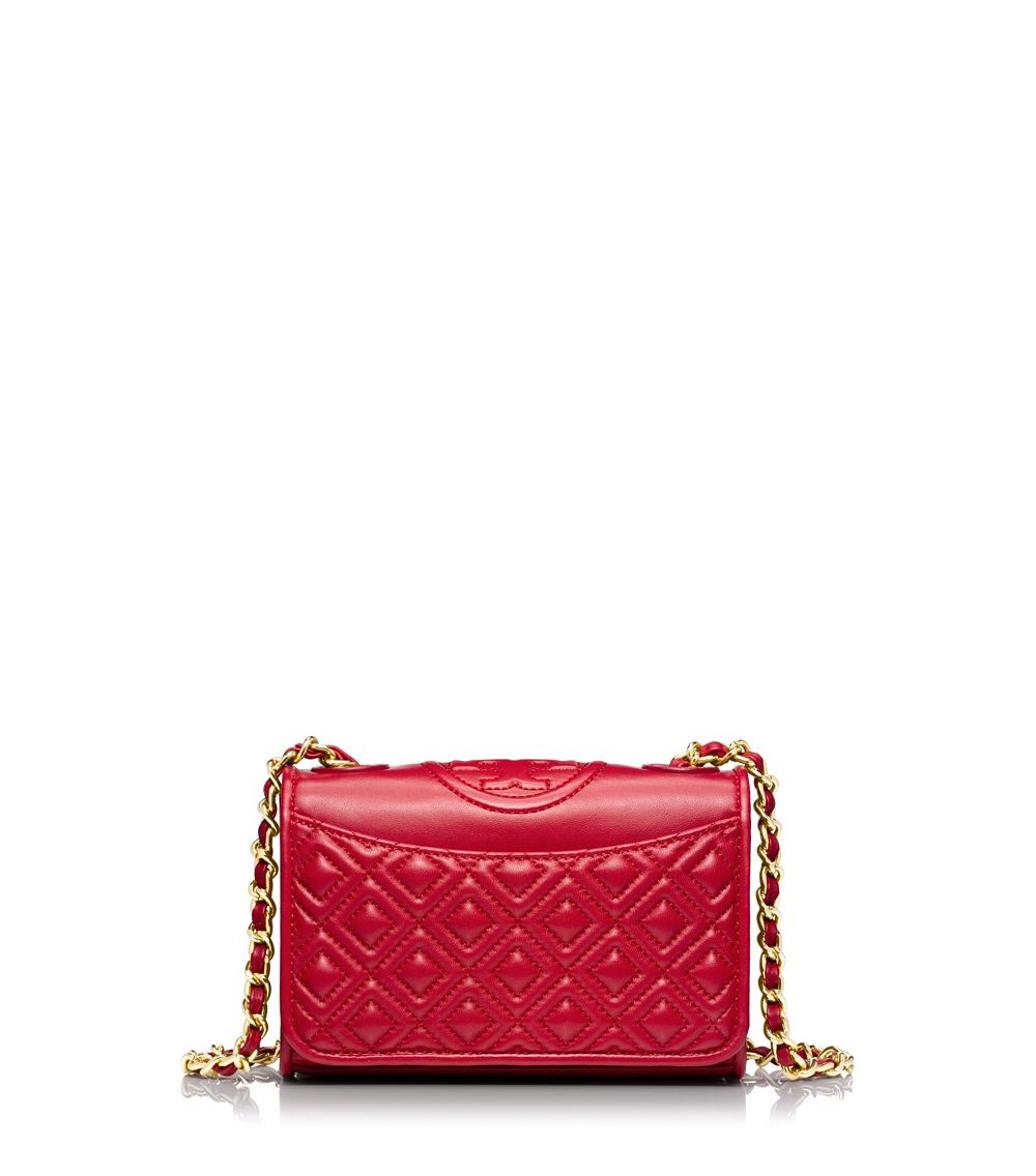 Tory Burch Fleming Mini Bag In Red Kir Royale Lyst