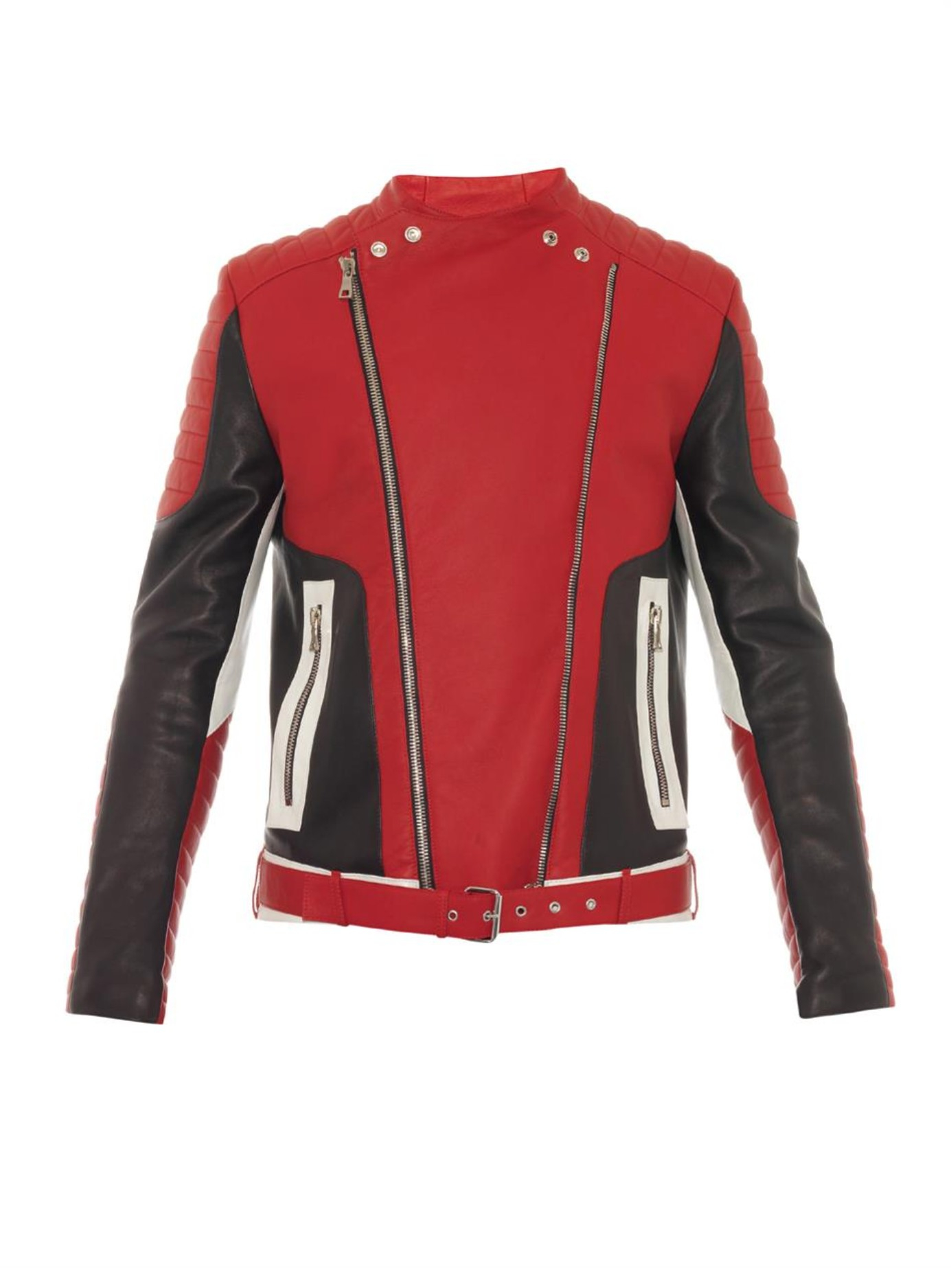 River Island Leather Jacket Red