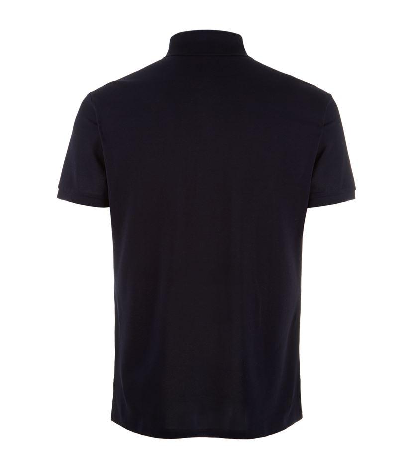 Ralph lauren pique polo shirt in black for men lyst for Ralph lauren black label polo shirt