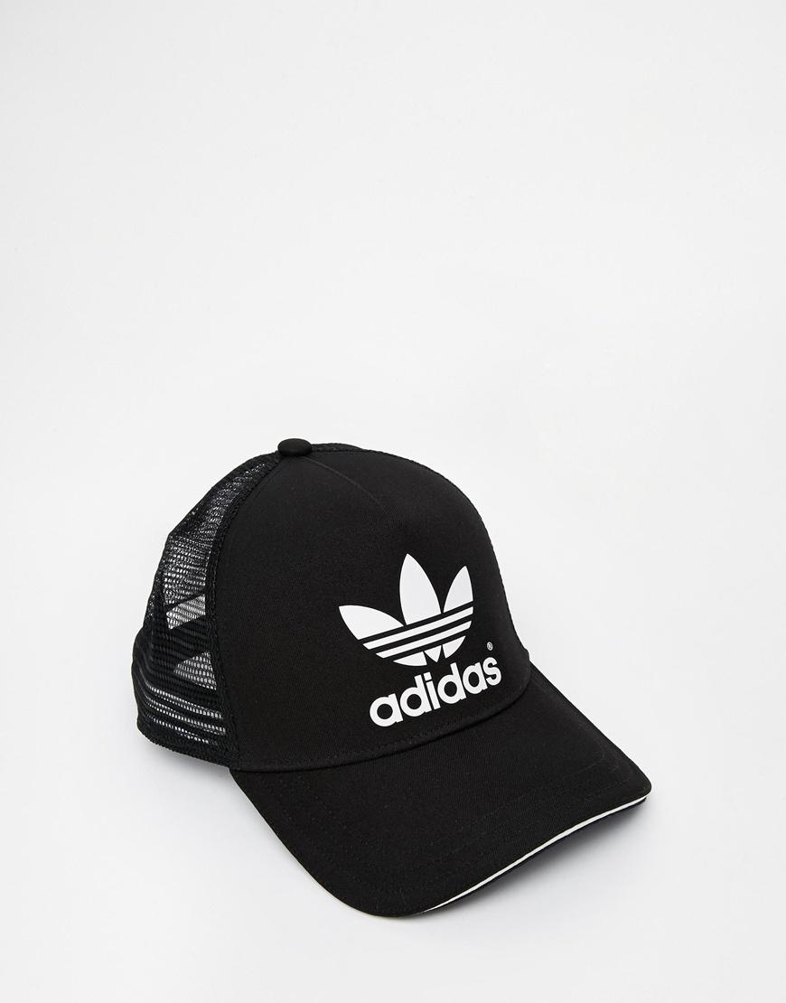 19a9aeda17ab3 adidas Originals Trucker Cap in Black for Men - Lyst