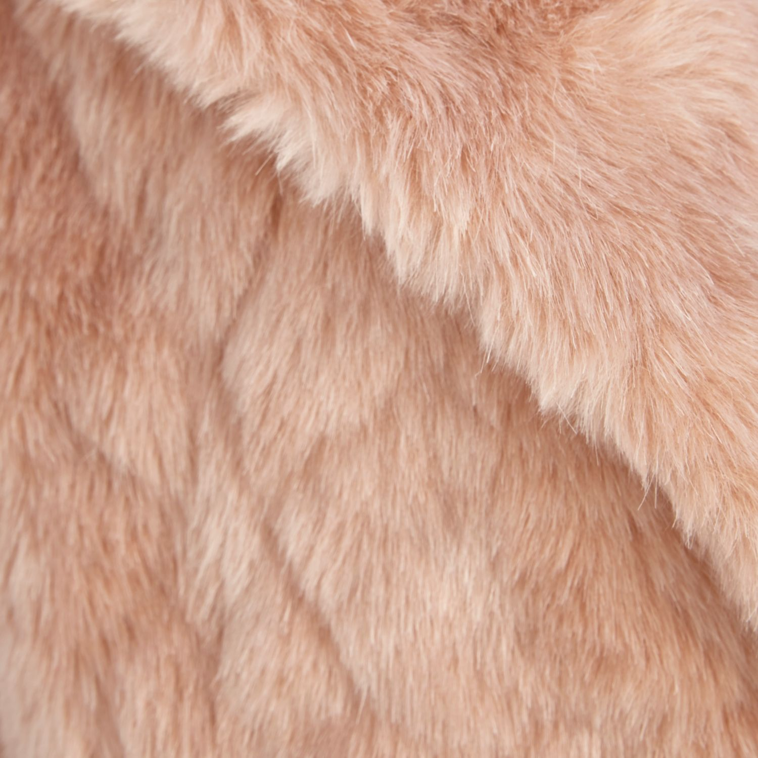 River island Light Pink Faux Fur Oversized Coat in Pink | Lyst
