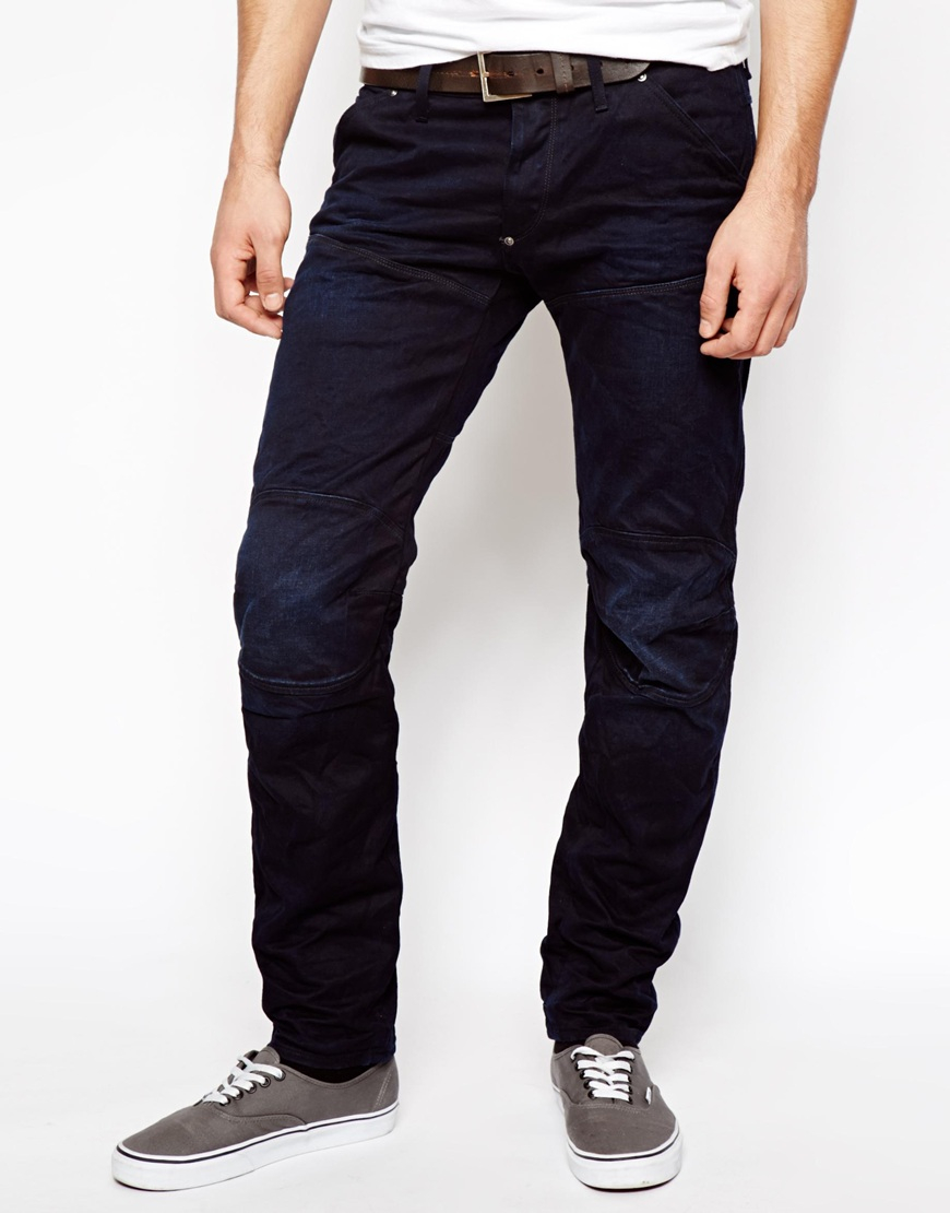 g star raw g star jeans elwood low tapered 3d aged in blue for men lyst. Black Bedroom Furniture Sets. Home Design Ideas