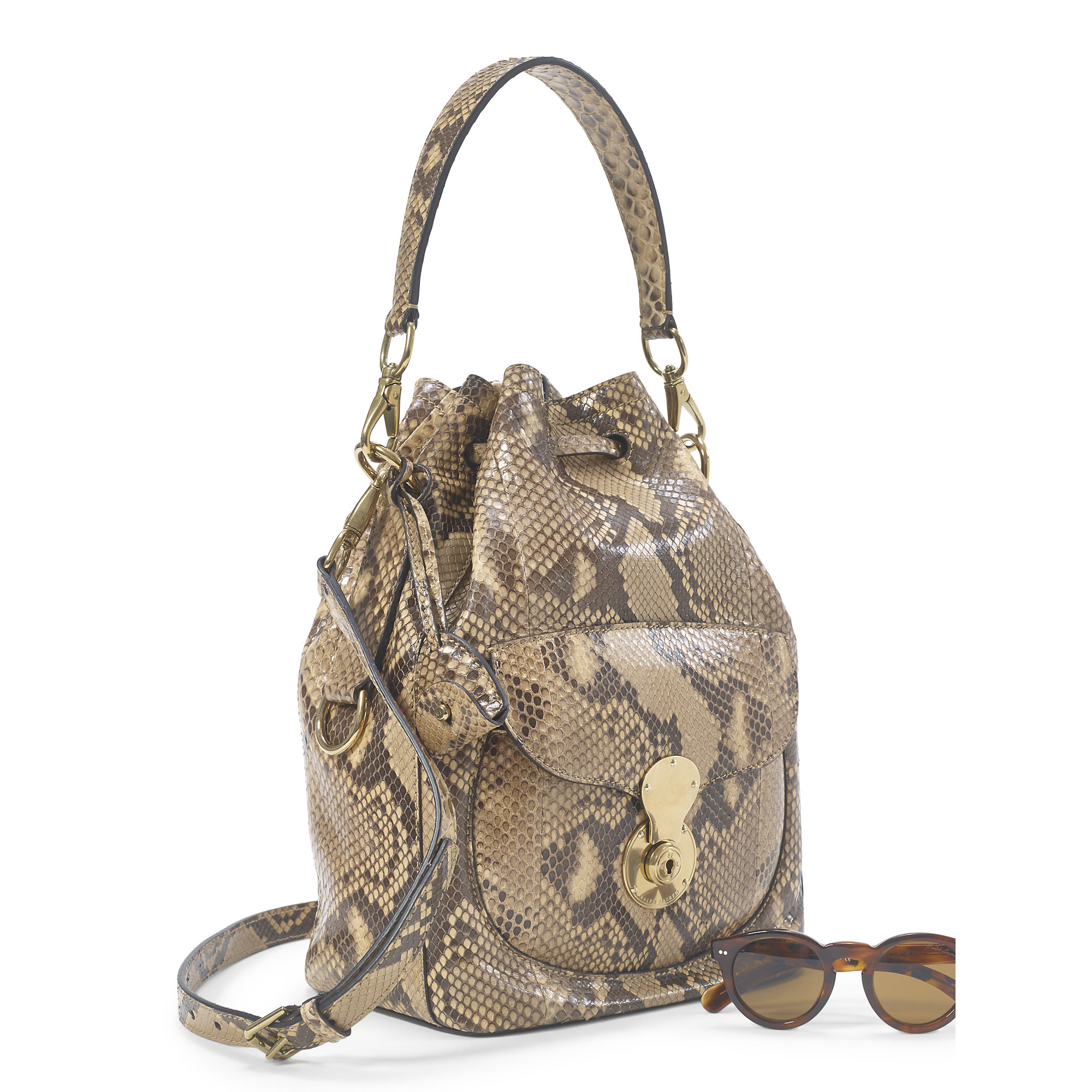 Lyst - Pink Pony Python Ricky Drawstring Bag in Brown acac2d7b92536