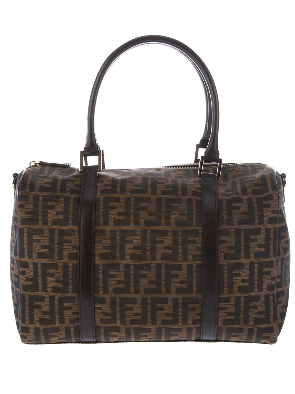 f5d0ab7606 Lyst - Fendi Logo Print Bag in Brown