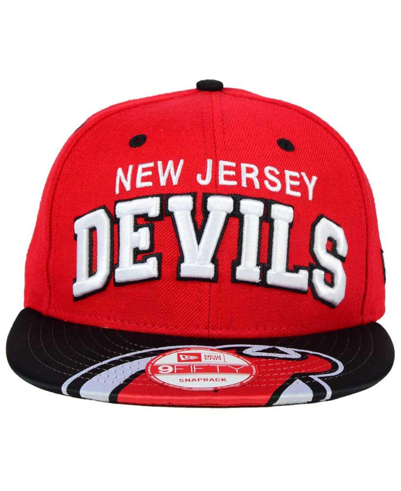 size 40 b7149 c4009 Lyst - KTZ New Jersey Devils Double Flip 9fifty Snapback Cap in Red ...