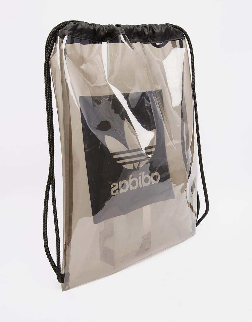 Adidas originals Drawstring Backpack in Black for Men | Lyst