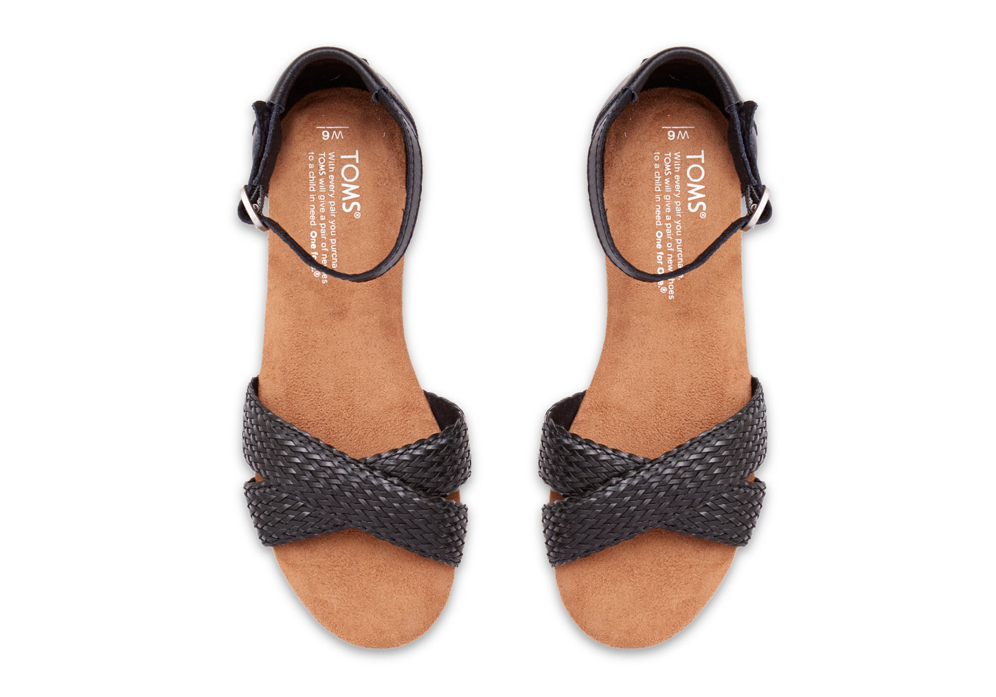 1addfc85e19 Lyst - Toms Black Woven Women s Correa Sandals in Black