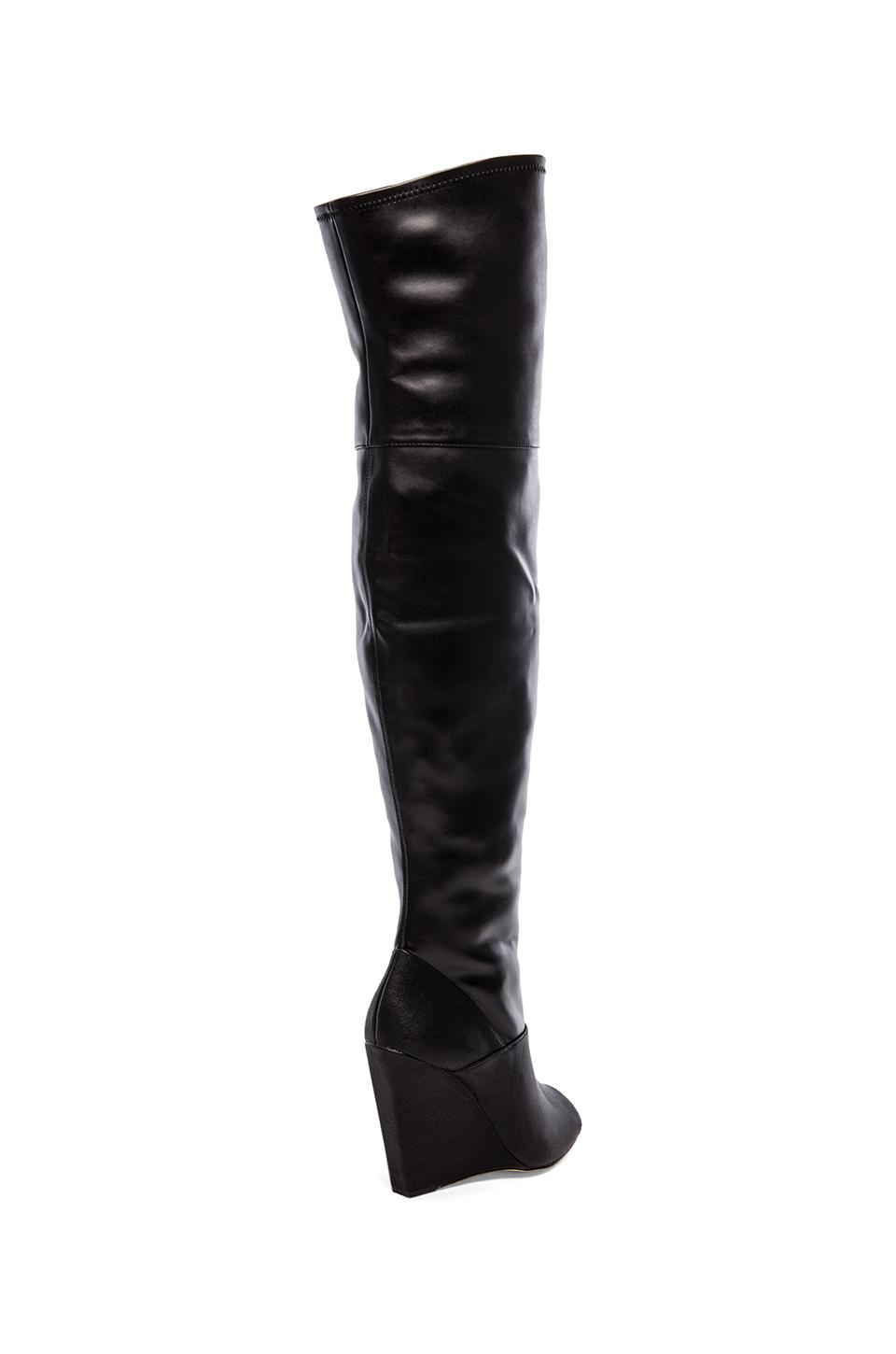 Bcbgmaxazria Gian Open Toe Over The Knee Boots in Black | Lyst