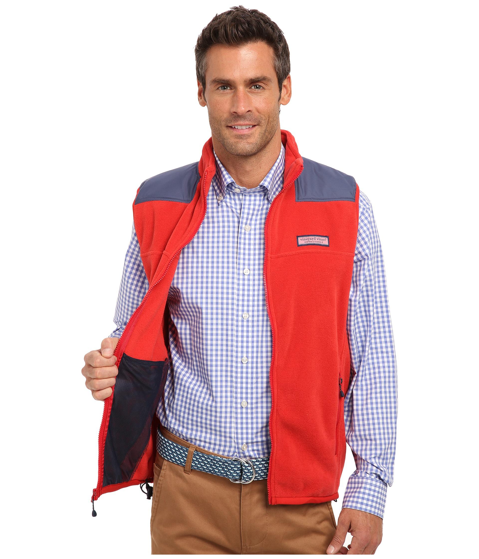 Vineyard vines Fleece Shep Vest in Red for Men   Lyst
