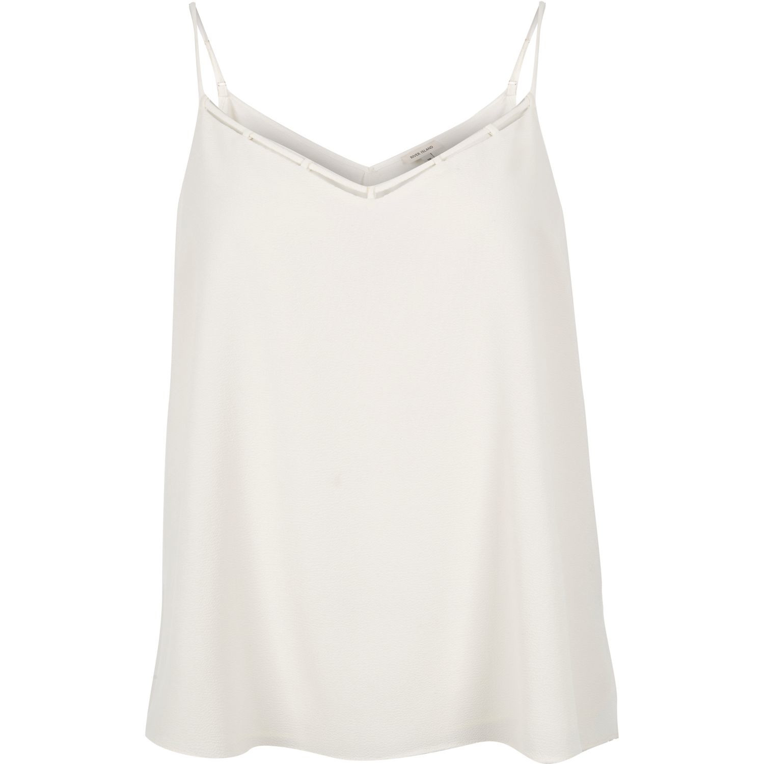 114d579aa9d River Island Ri Plus White Strappy Cami in White - Lyst