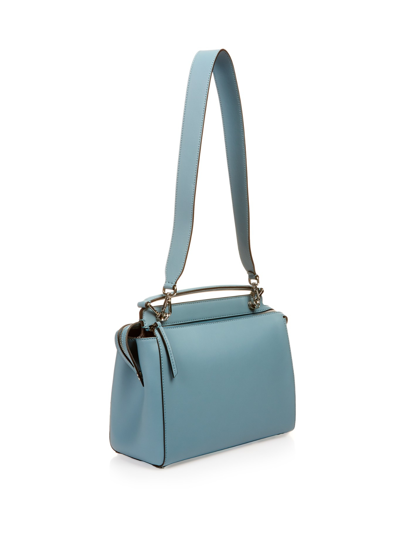 59fd7d335d0 Fendi Dotcom Leather Bag in Blue - Lyst