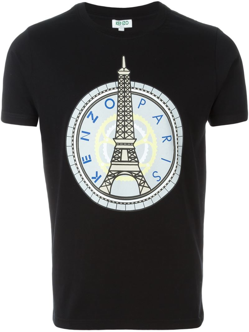 f612c71c KENZO 'eiffel Tower' T-shirt in Black for Men - Lyst